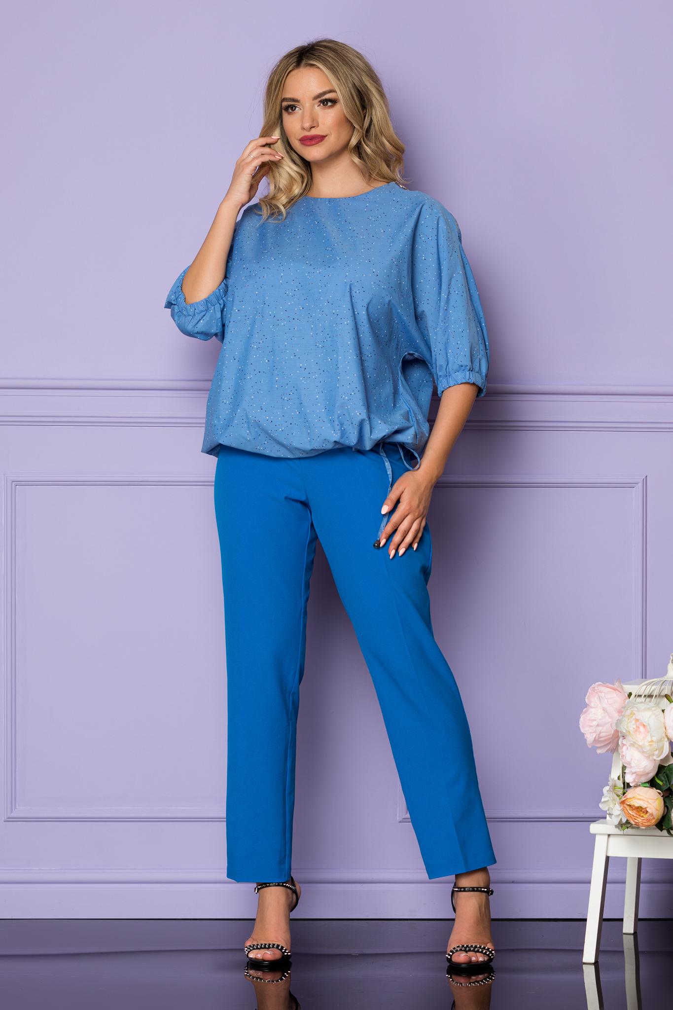 Bluza Gilda Albastra Marimi Mari XL (42)   XXL (44)   3XL (46)   4XL (48)
