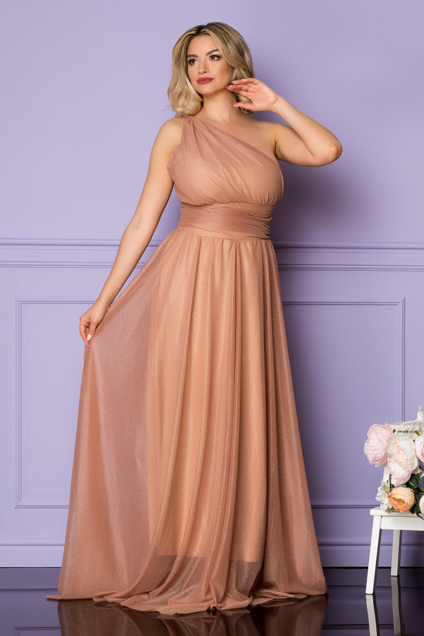 Rochie Divissima Nude Marimi Mari M (38) | L (40) | XL (42) | XXL (44) | 3XL (46)