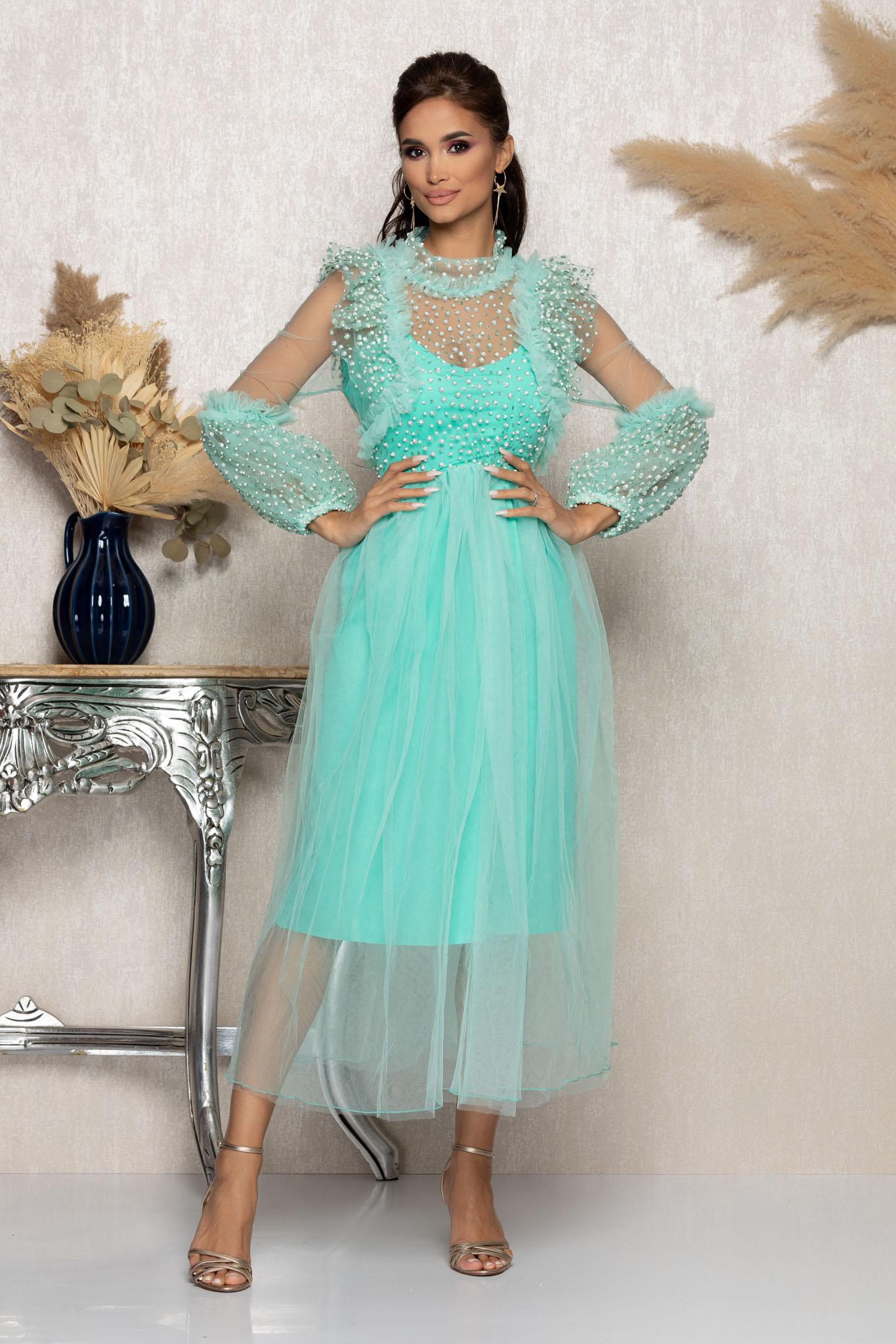 Rochie Heavenly Mint Marimi Mari M (38) | L (40) | XL (42) | XXL (44) | 3XL (46)