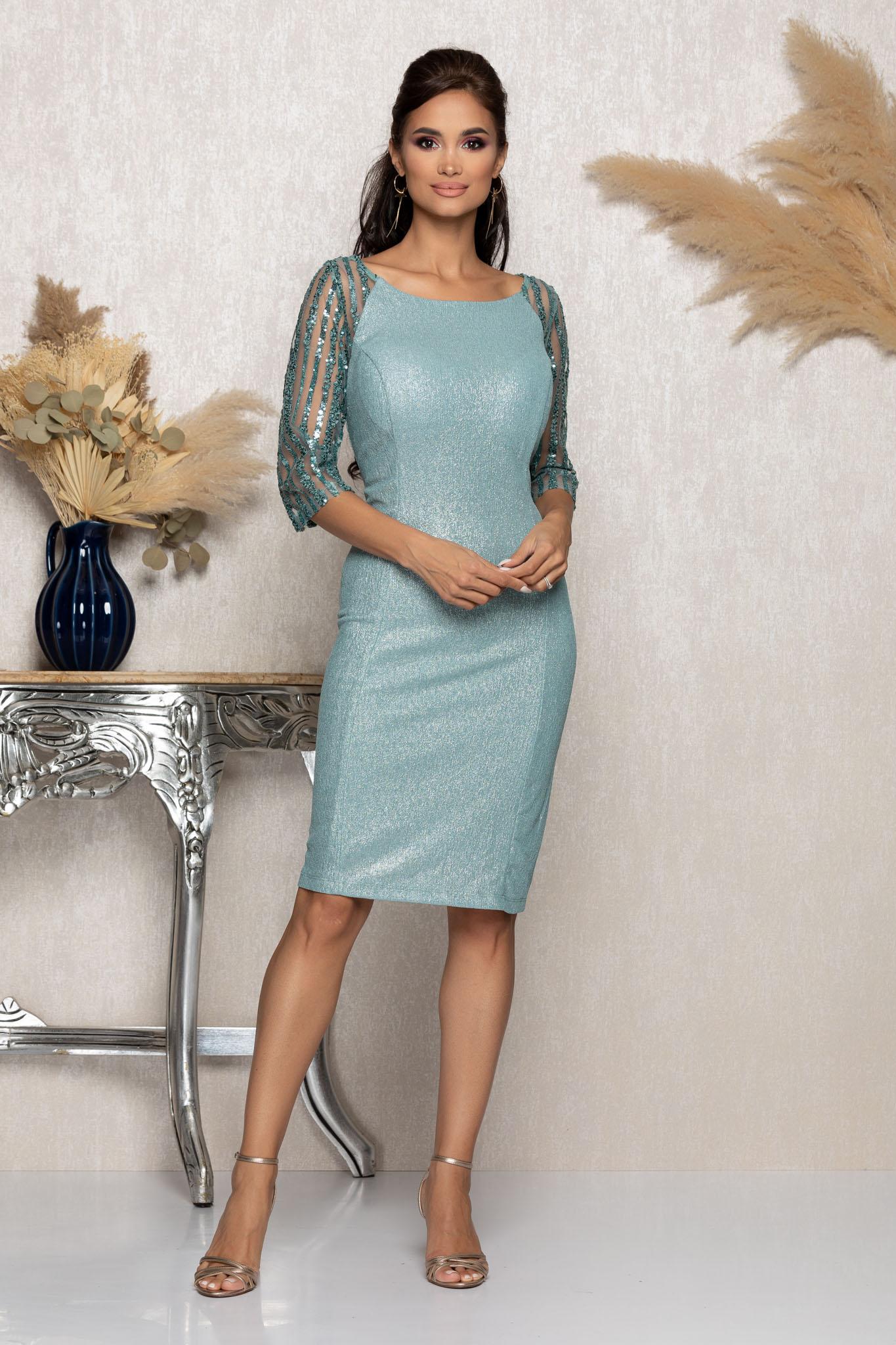 Rochie Lenna Mint Marimi Mari XXL (44) | 3XL (46) | 4XL (48) | 5XL (50)
