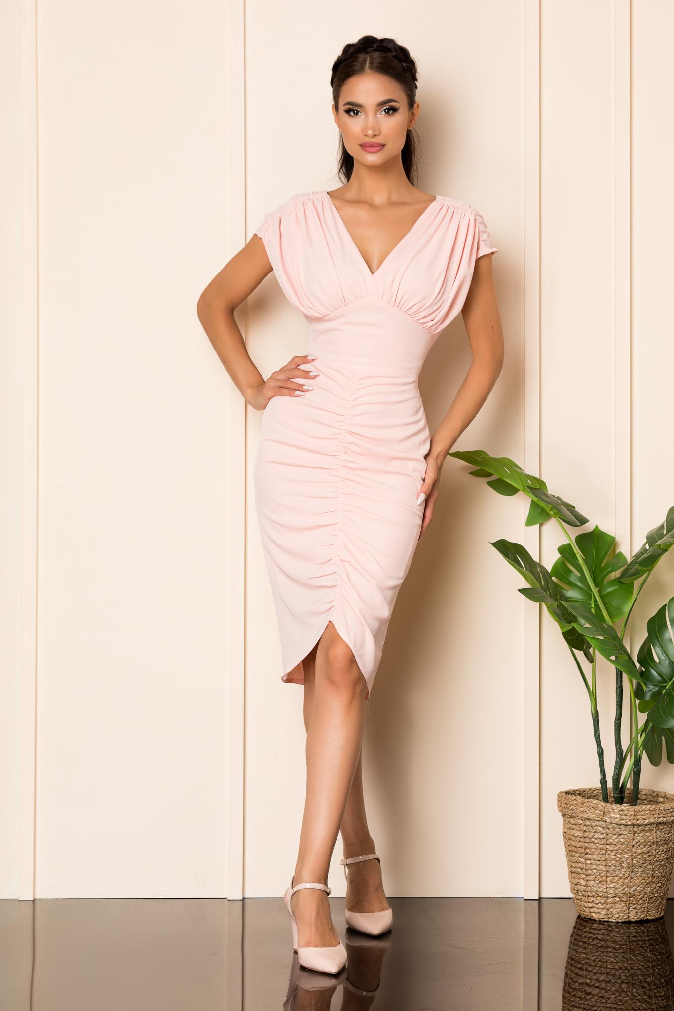 Rochie Moze Ruth Rose Marimi Mari S (36) | M (38) | L (40) | XL (42) | XXL (44) | 3XL (46)