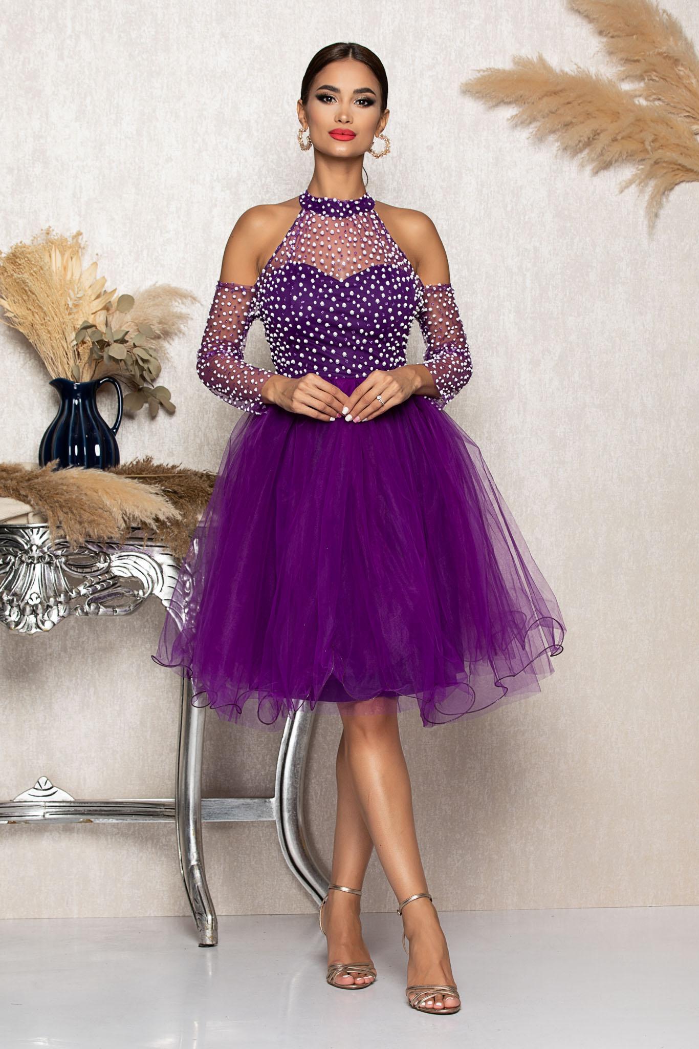 Rochie Barby Violet Marimi Mari M (38)   L (40)   XL (42)   XXL (44)   3XL (46)