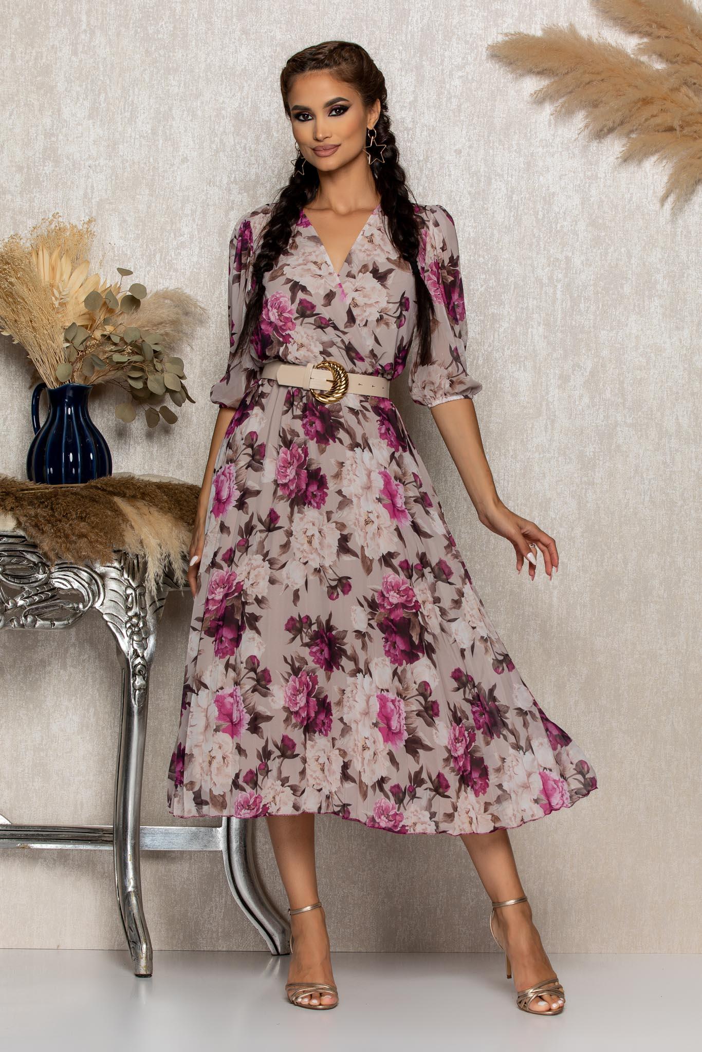 Rochie Cryna Lila Marimi Mari S (36)   M (38)   L (40)   XL (42)   XXL (44)   3XL (46)
