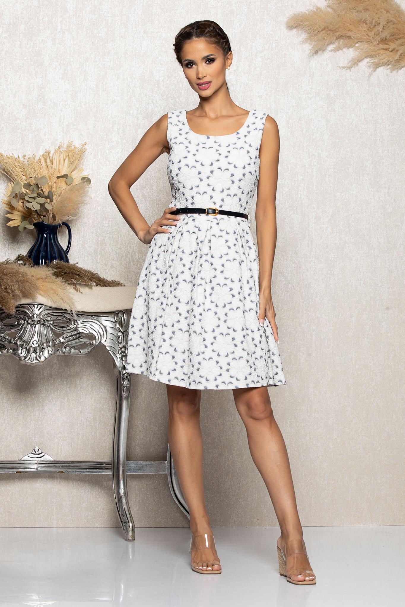 Rochie Daisy Gri Marimi Mari M (38) | L (40) | XL (42) | XXL (44)