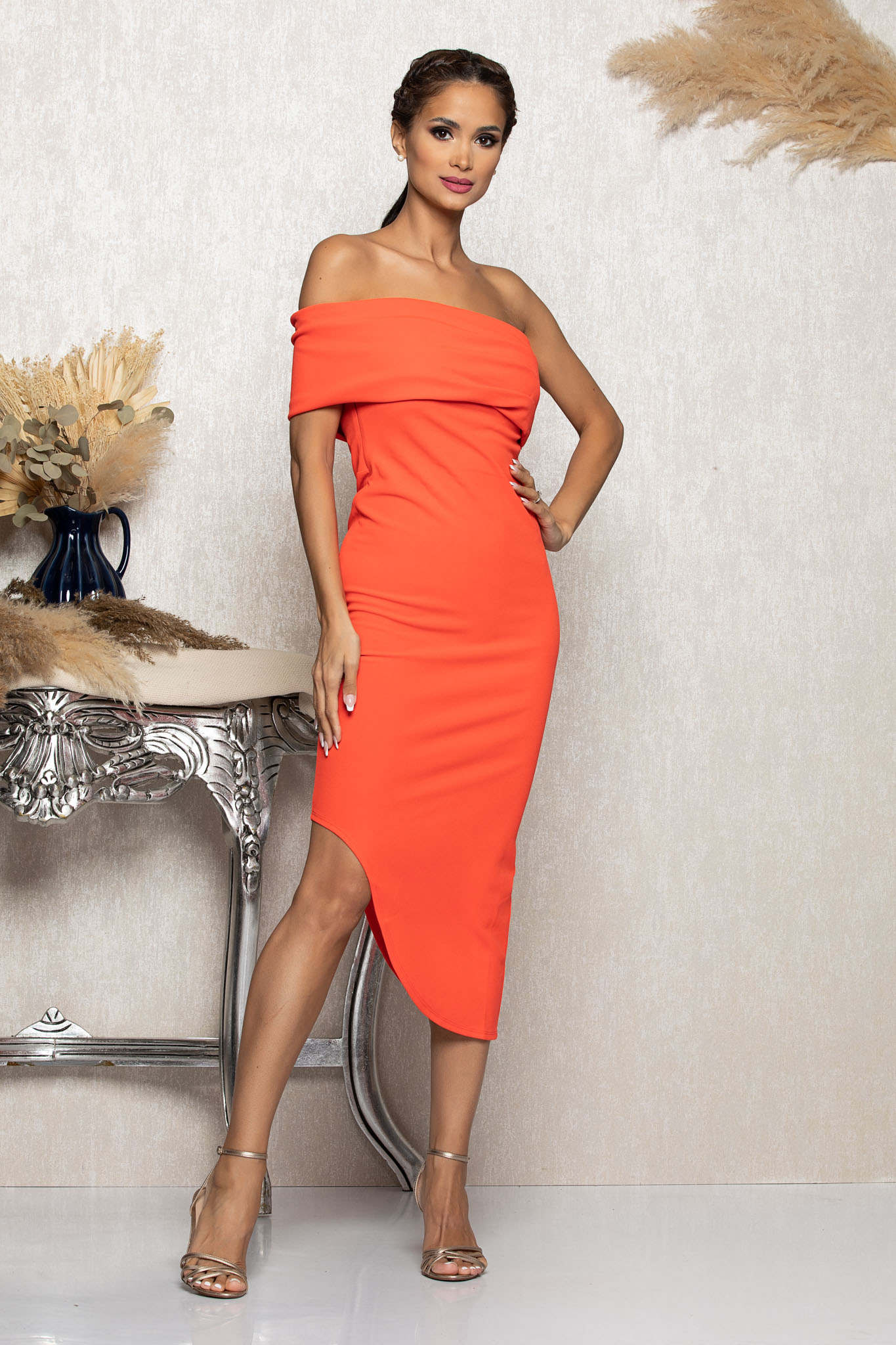 Rochie Esther Orange Marimi Mari XS (34) | S (36) | M (38) | L (40) | XL (42) | XXL (44)