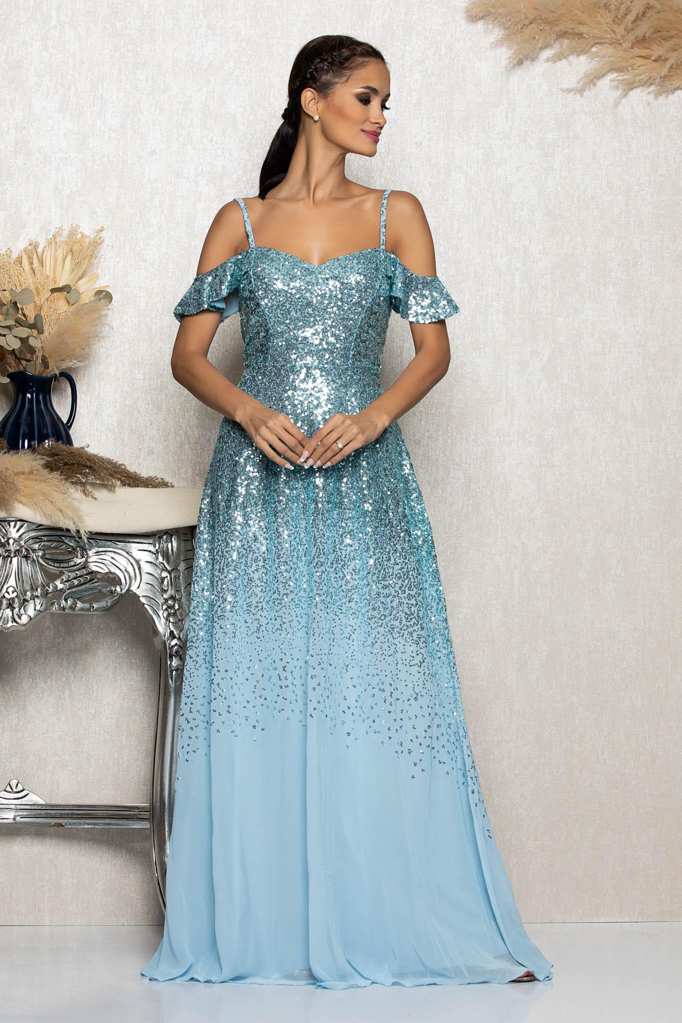 Rochie Feeria Bleu Marimi Mari S (36) | M (38) | L (40) | XL (42) | XXL (44) | 3XL (46)