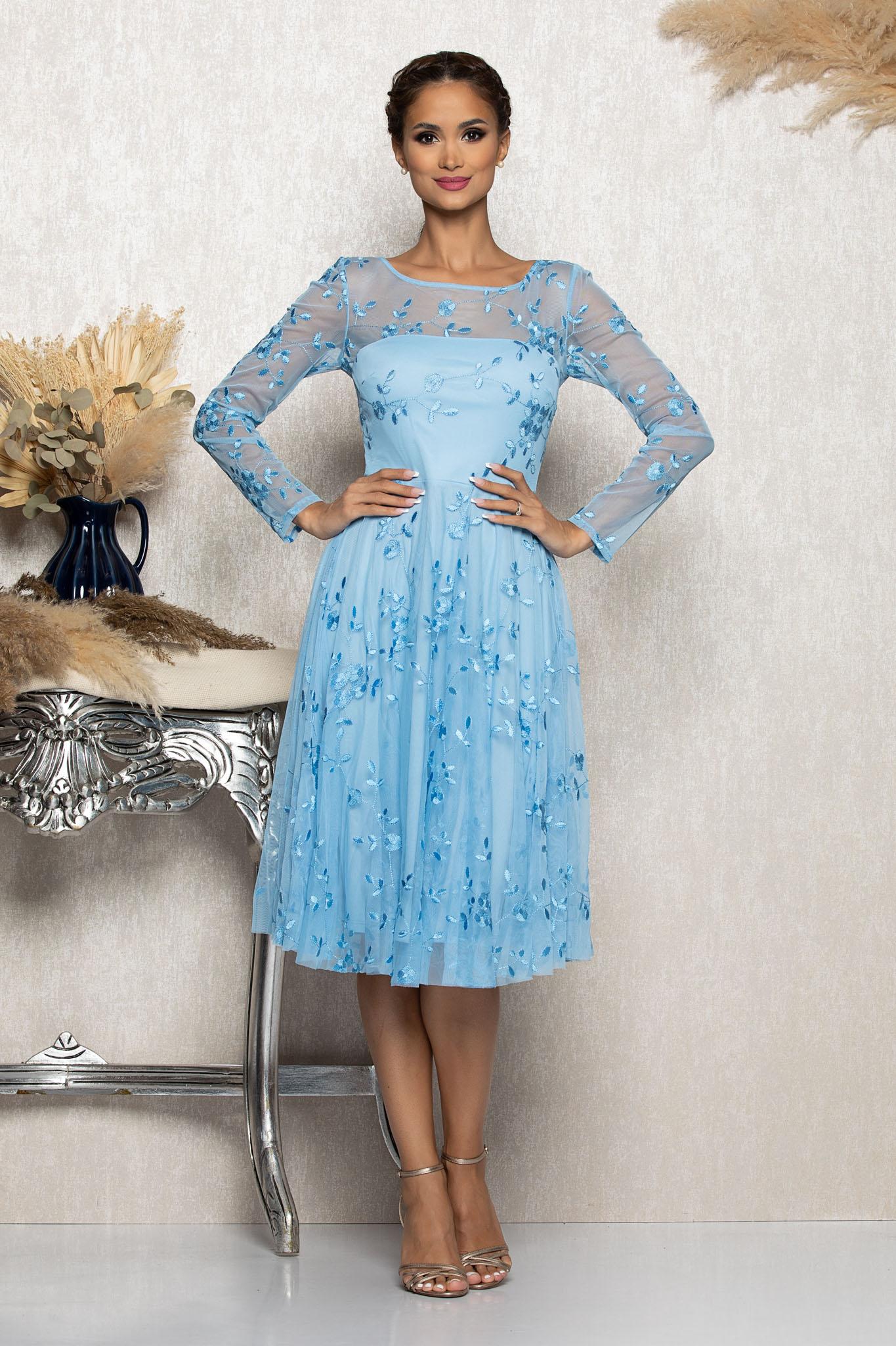 Rochie Finess Bleu Marimi Mari S (36) | M (38) | L (40) | XL (42) | XXL (44)