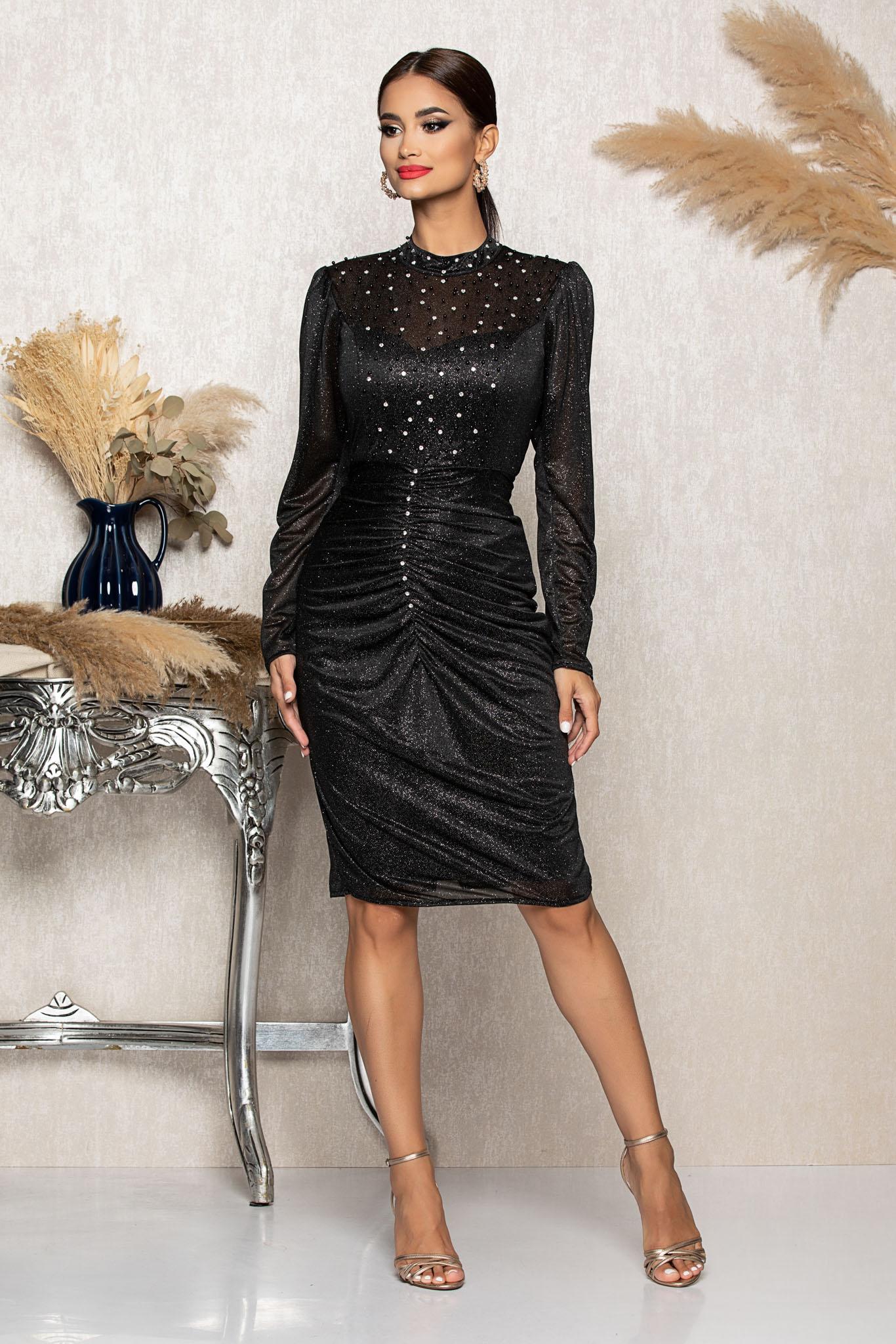 Rochie Flirty Argintie Marimi Mari M (38) | L (40) | XL (42) | XXL (44) | 3XL (46)