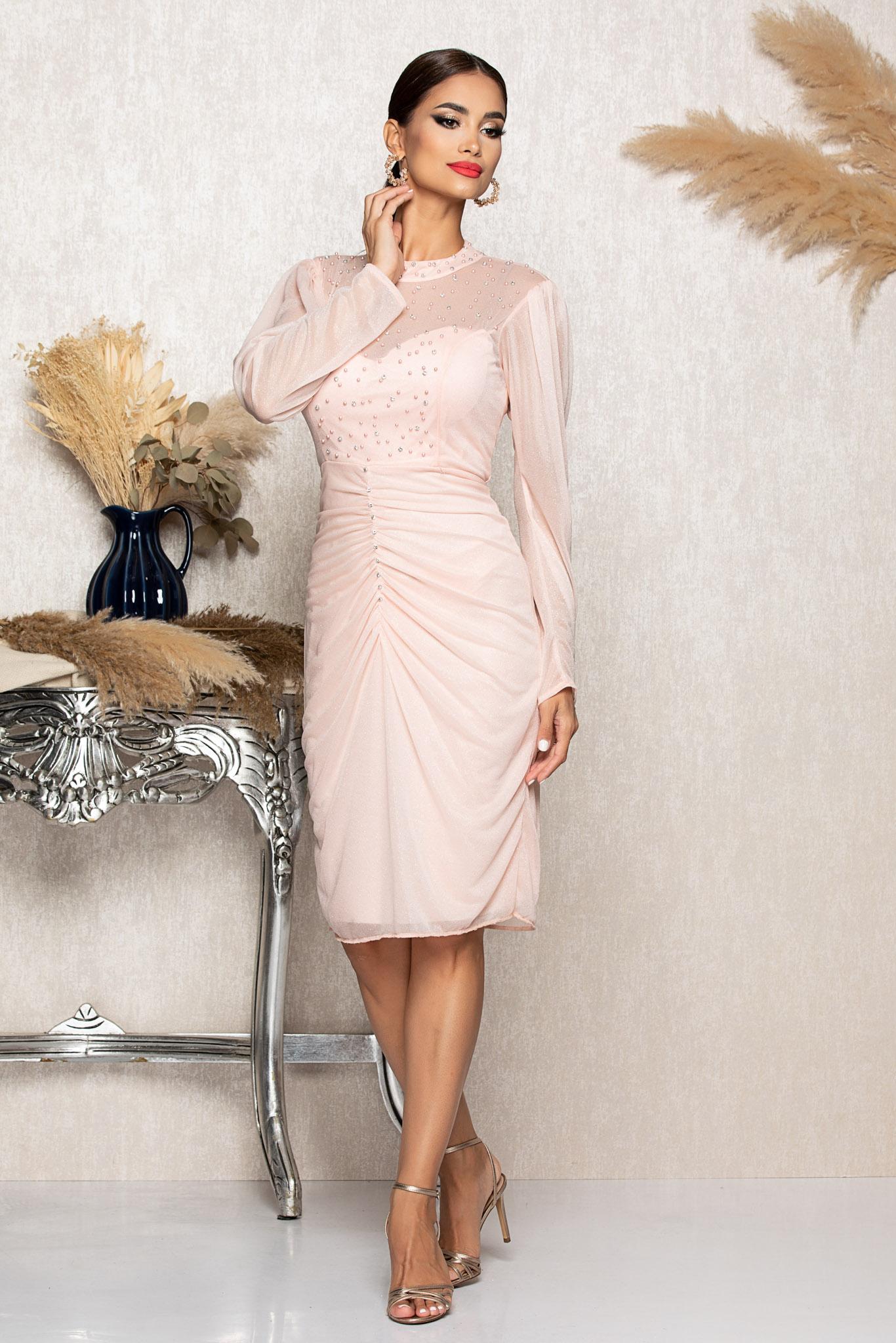 Rochie Flirty Rose Marimi Mari M (38)   L (40)   XL (42)   XXL (44)   3XL (46)