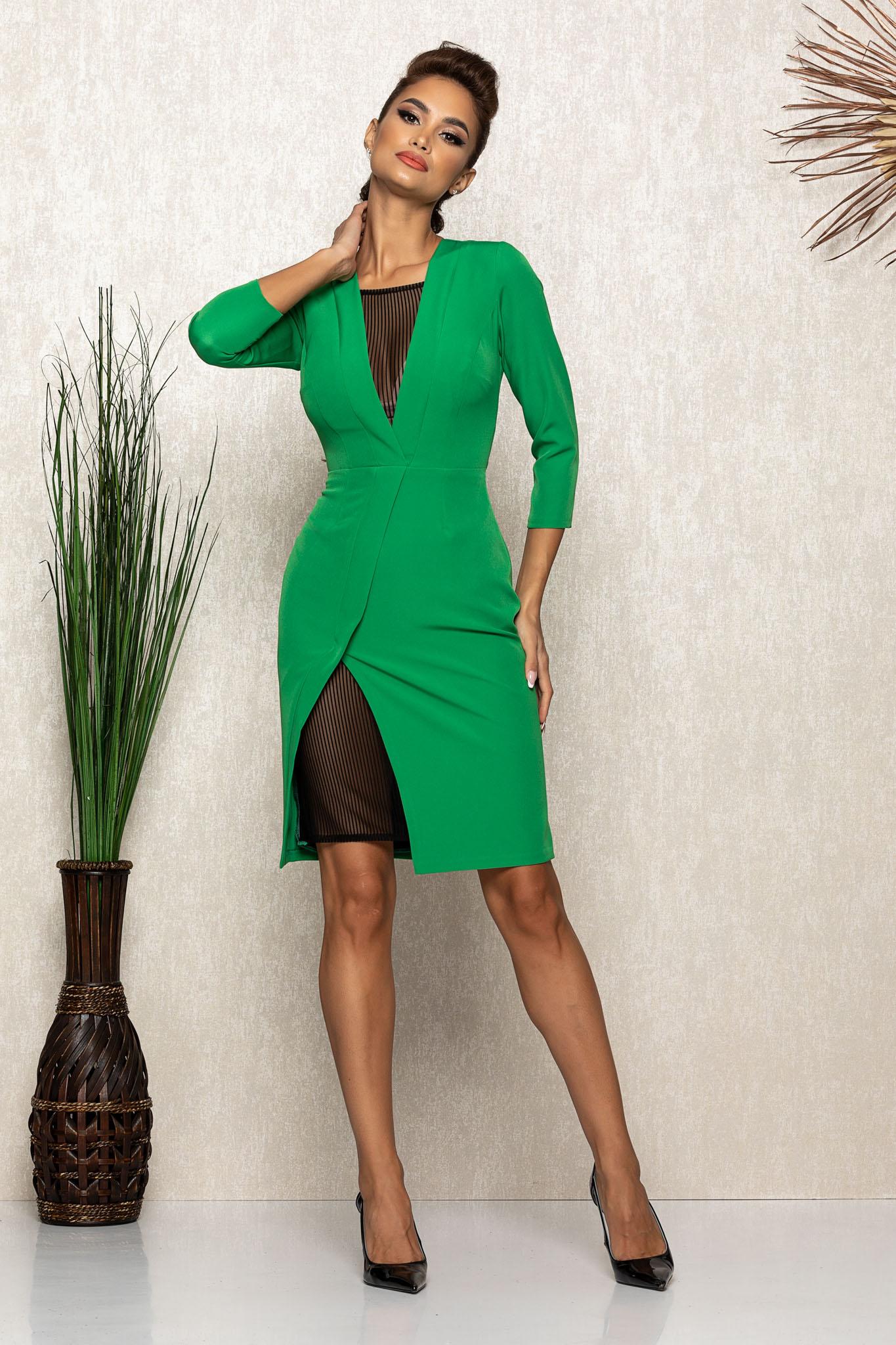 Rochie Moze Elise Verde Marimi Mari S (36)   M (38)   L (40)   XL (42)   XXL (44)   3XL (46)