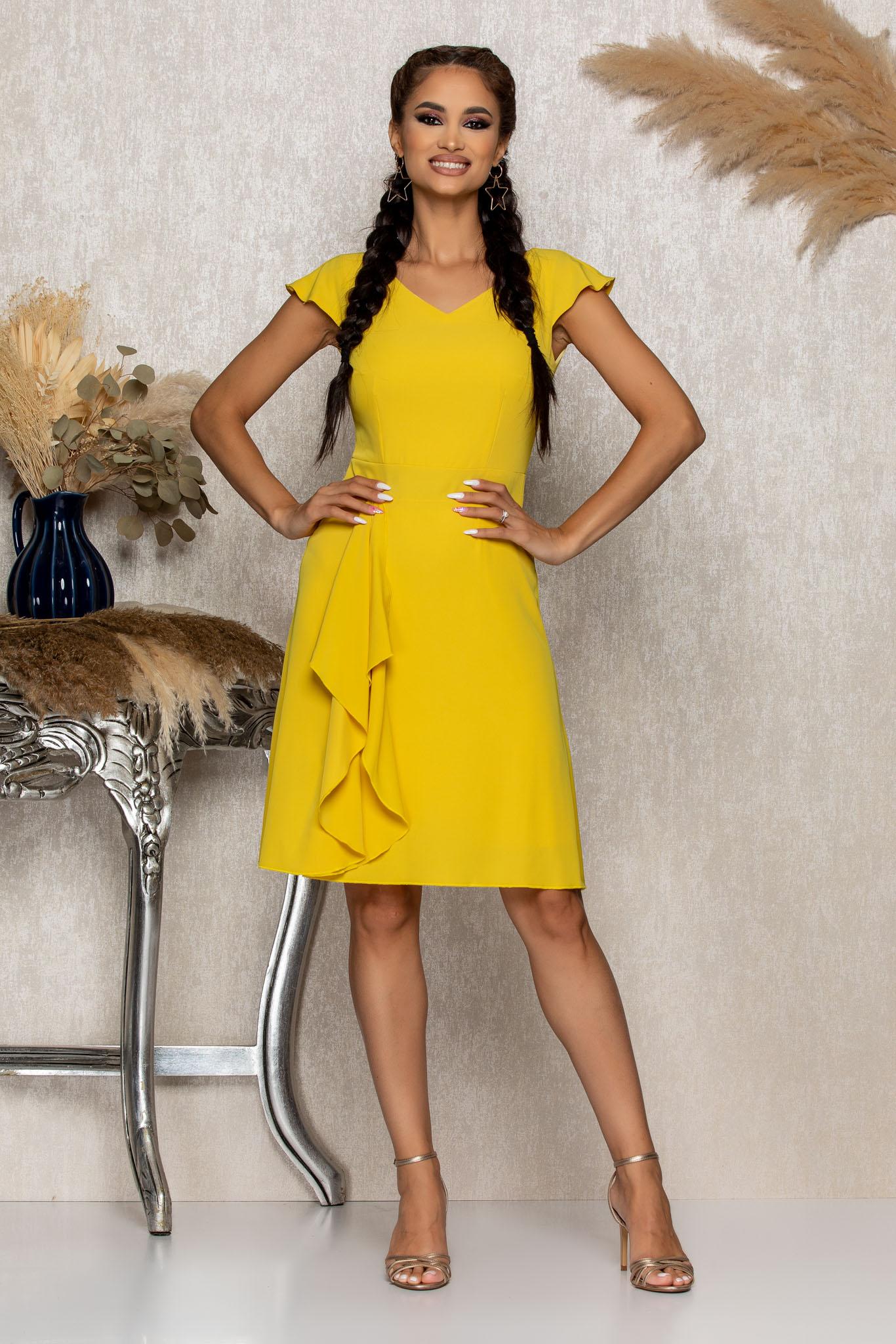 Rochie Moze Ella Galbena Marimi Mari S (36) | M (38) | L (40) | XL (42) | XXL (44) | 3XL (46)