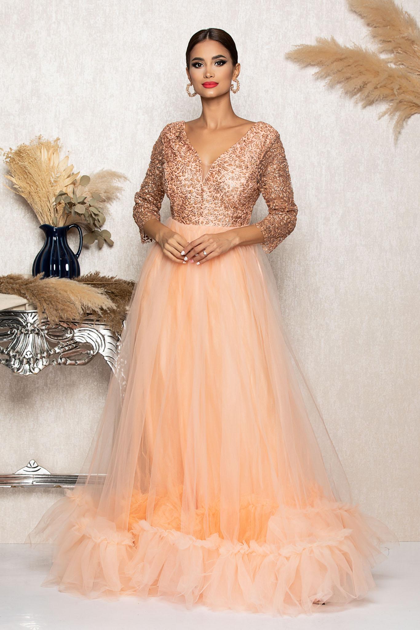Rochie Remarkable Peach Marimi Mari M (38) | L (40) | XL (42) | XXL (44) | 3XL (46)