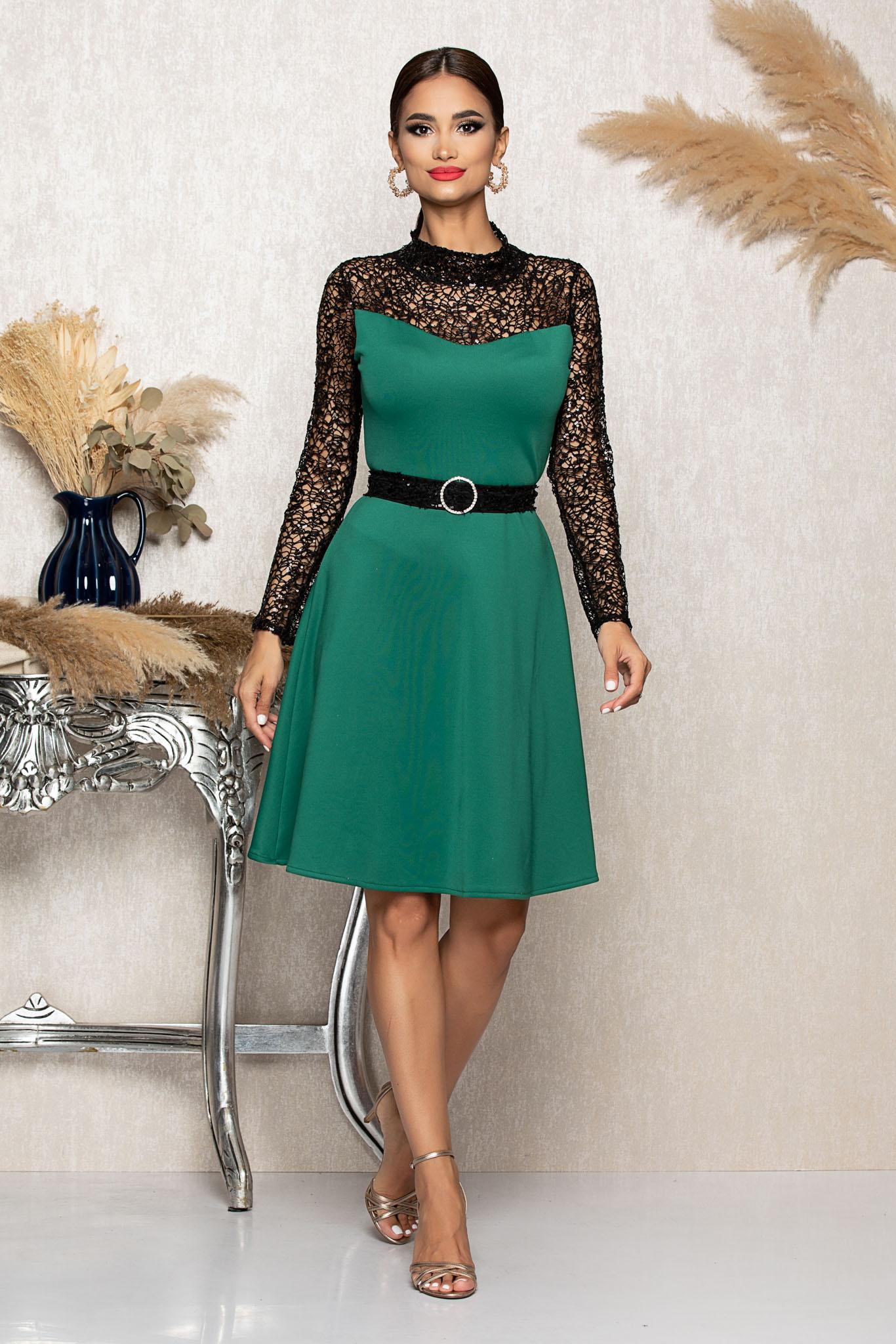 Rochie Sellya Verde Marimi Mari M (38) | L (40) | XL (42) | XXL (44) | 3XL (46)