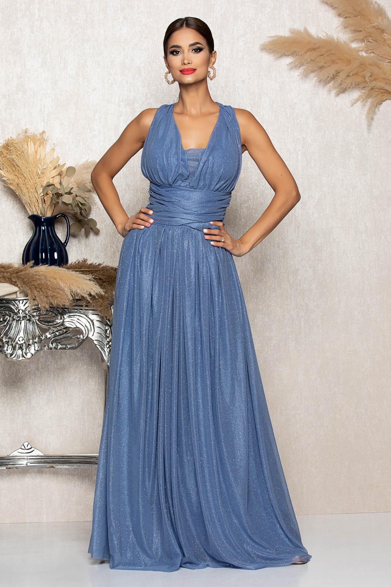 Rochie Sophisticated Bleu Marimi Mari M (38) | L (40) | XL (42) | XXL (44) | 3XL (46)
