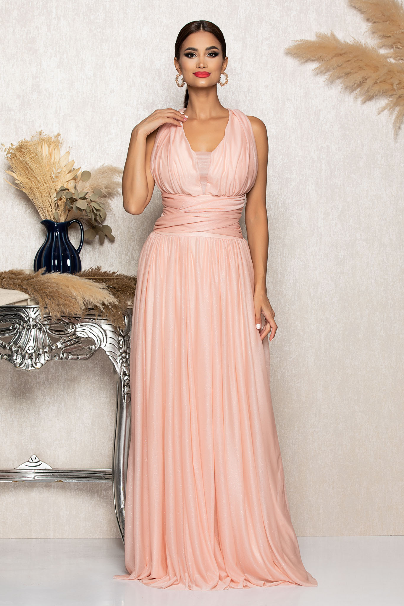 Rochie Sophisticated Peach Marimi Mari M (38)   L (40)   XL (42)   XXL (44)   3XL (46)
