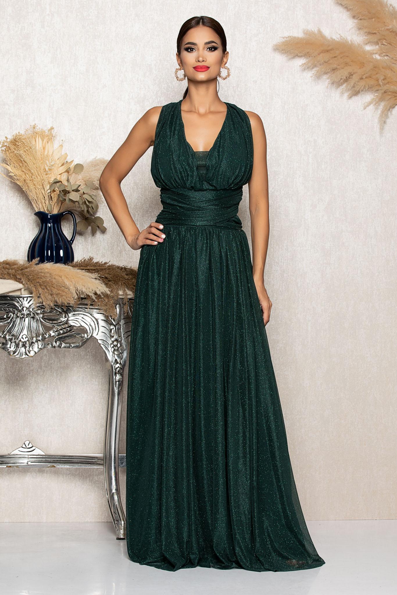 Rochie Sophisticated Verde Marimi Mari M (38)   L (40)   XL (42)   XXL (44)   3XL (46)