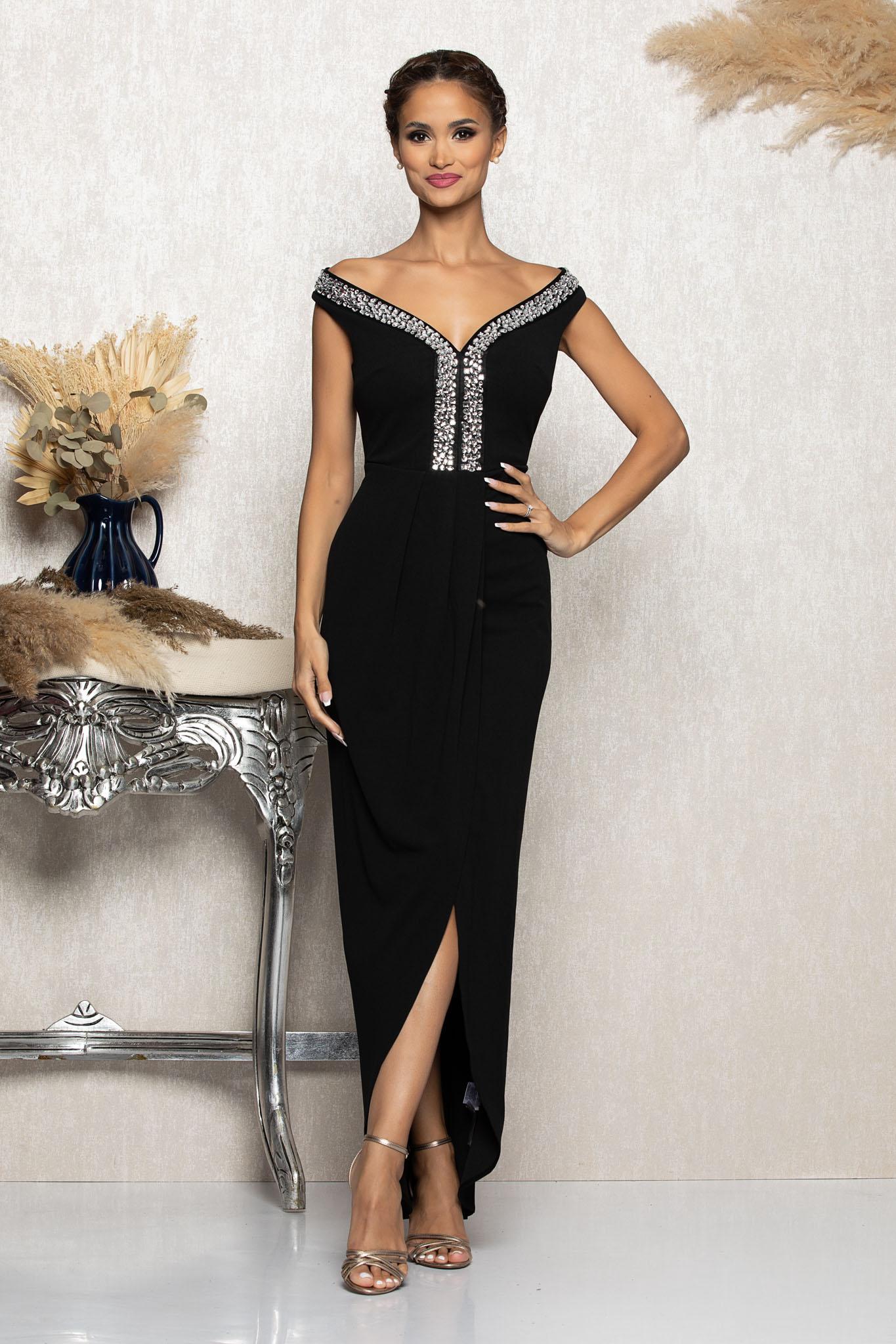 Rochie Vogue Neagra Marimi Mari S (36)   M (38)   L (40)   XL (42)   XXL (44)