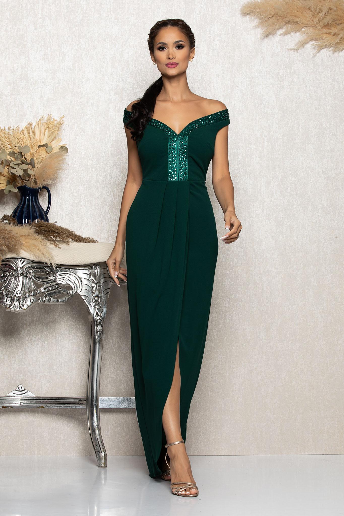 Rochie Vogue Verde Marimi Mari S (36) | M (38) | L (40) | XL (42) | XXL (44)