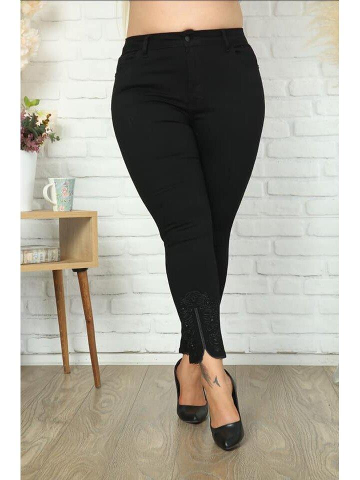 Blugi Dama Roxy Negru Plus Size marime
