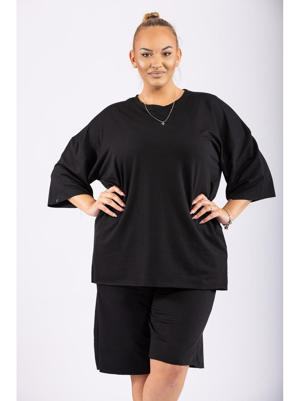 Compleu Dama Oversize Negru Plus Size marime