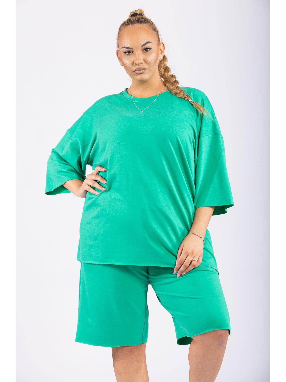 Compleu Dama Oversize Verde Plus Size marime