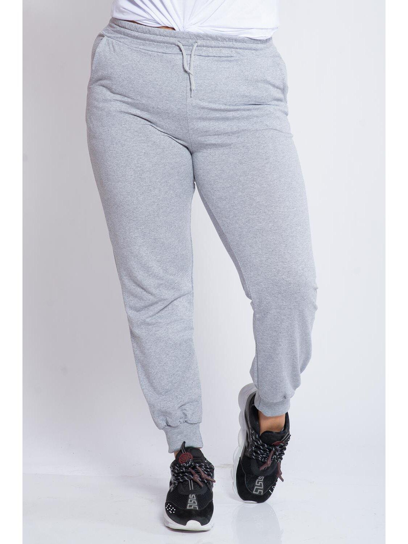 Pantaloni Dama Carina Gri Plus Size marime