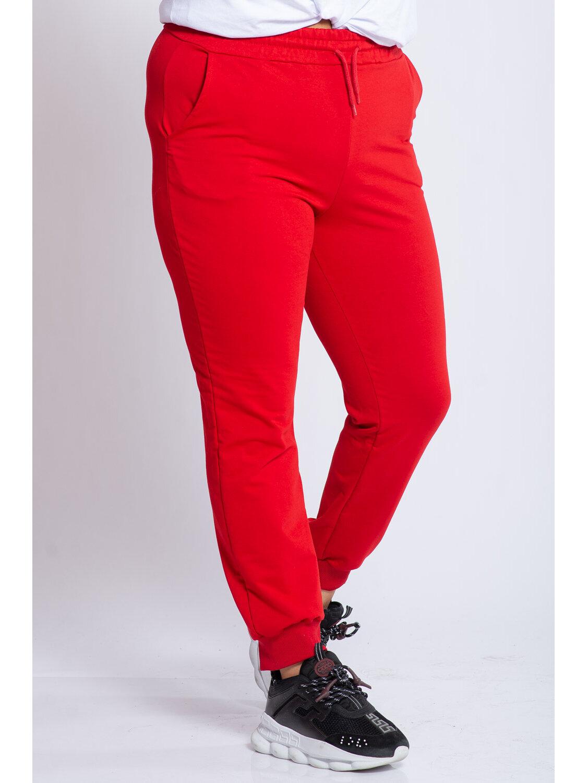 Pantaloni Dama Carina Rosu Plus Size marime
