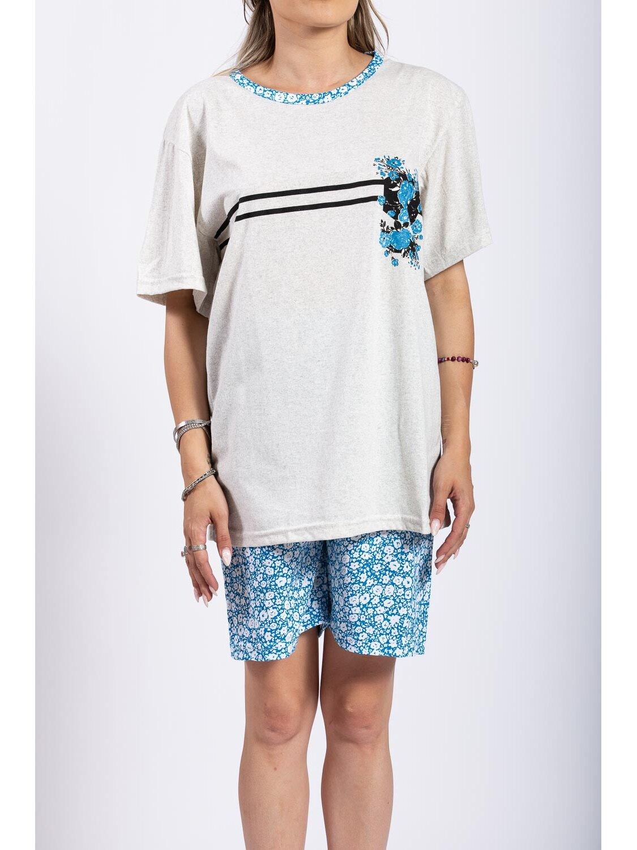 Pijama Dama Lola Albastru Plus Size marime