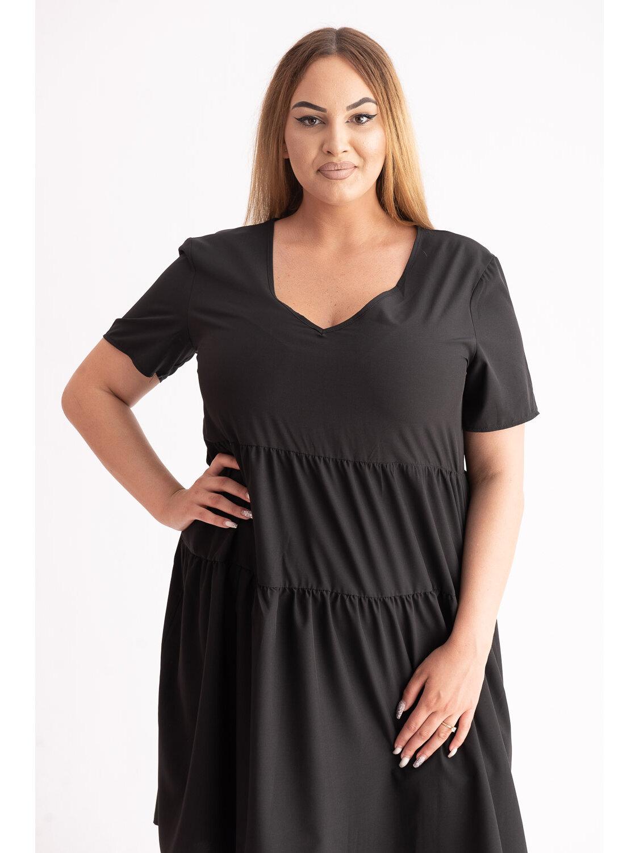 Rochie Dama Alla Negru Short Plus Size marime