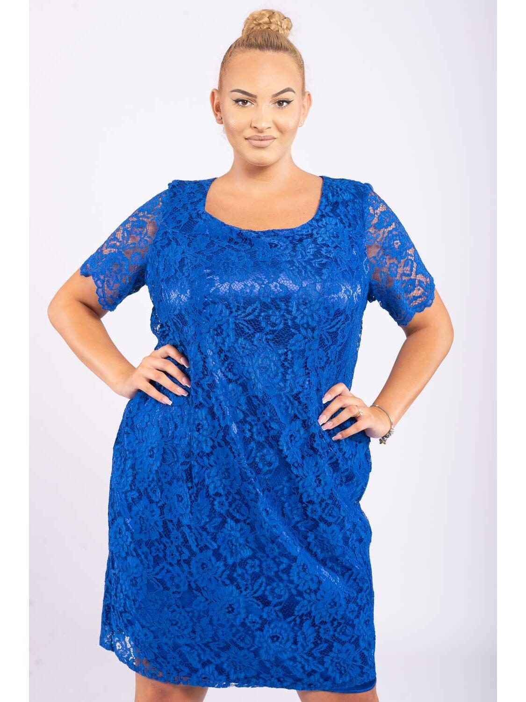 Rochie Dama Lolita Albastru Plus Size marime