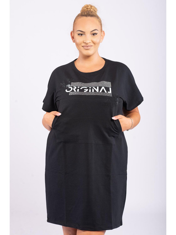 Rochie Dama Misha Negru Plus Size marime
