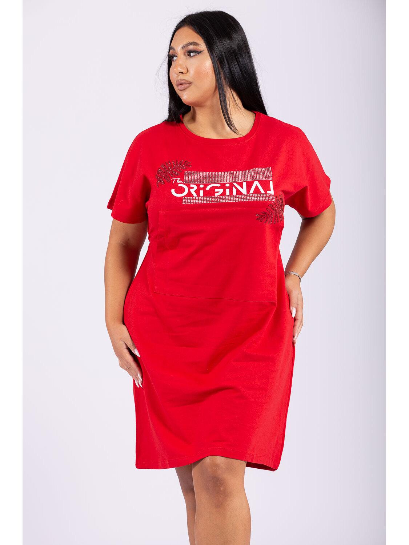 Rochie Dama Misha Rosu Plus Size marime