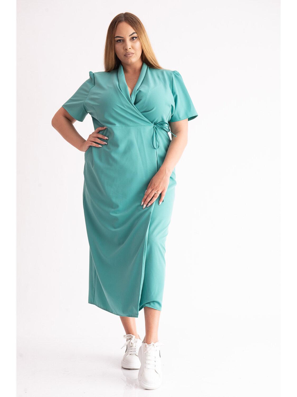 Rochie Dama Raisa Verde Plus Size marime