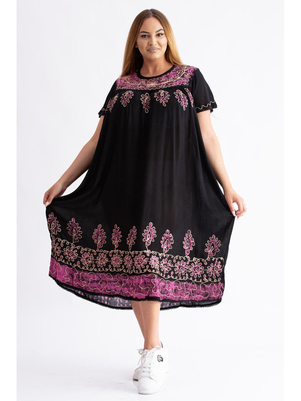 Rochie Dama Traditionala 9 Lila Plus Size marime