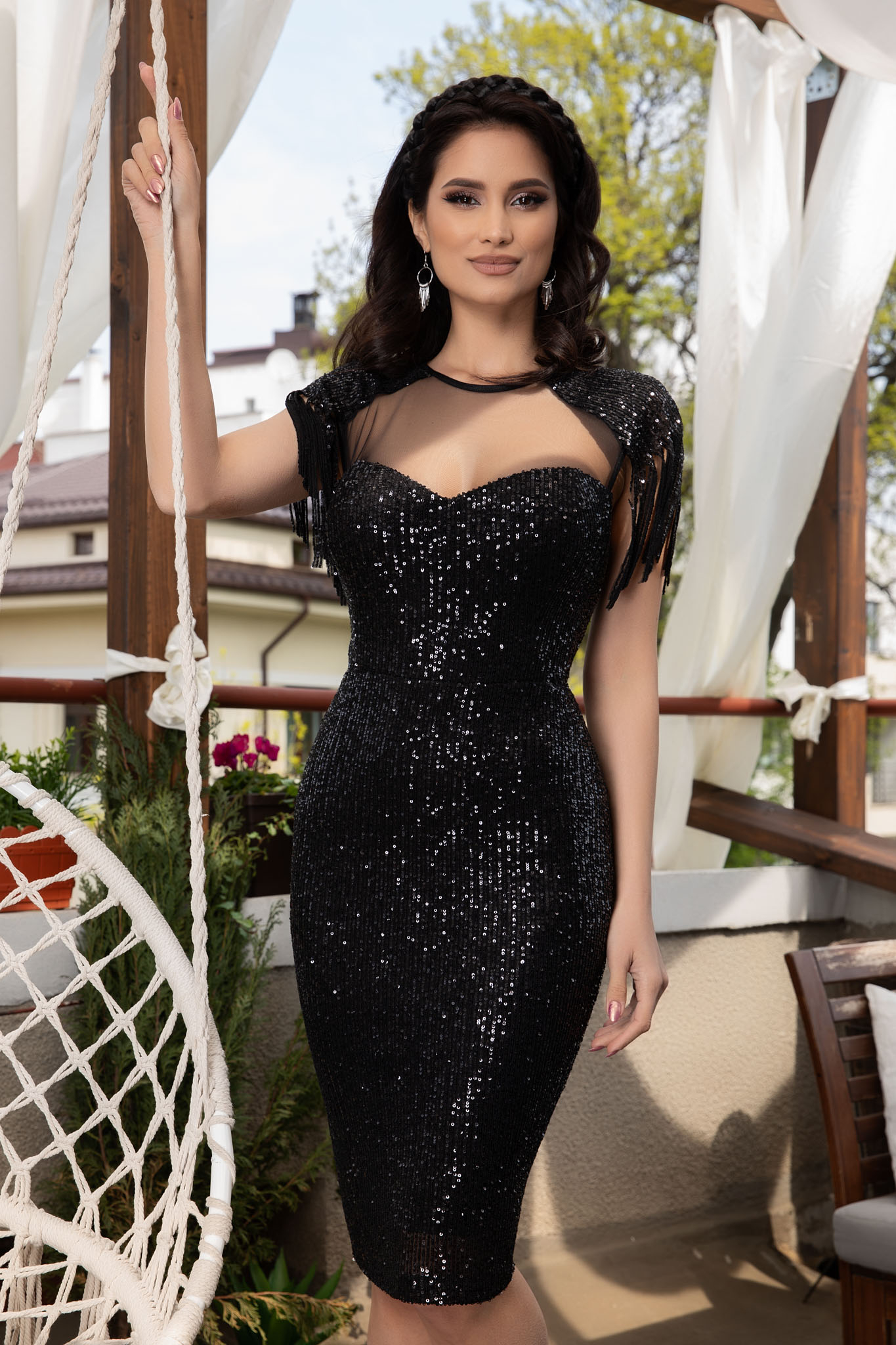 Rochie Geena Neagra Marimi Mari S (36) | M (38) | L (40) | XL (42) | XXL (44) | 3XL (46)