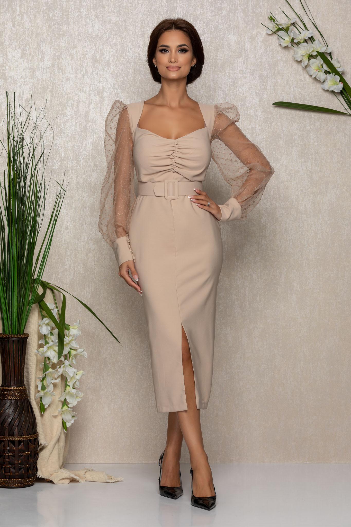 Rochie Margott Nude Marimi Mari XL (42) | XXL (44) | 3XL (46)