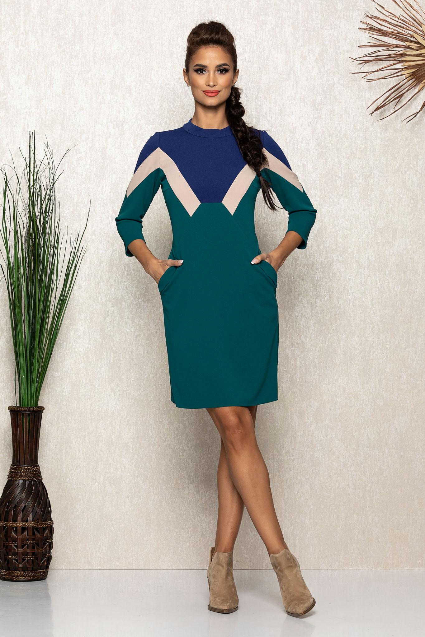 Rochie Moze Adriana Verde Marimi Mari S (36) | M (38) | L (40) | XL (42) | XXL (44) | 3XL (46)