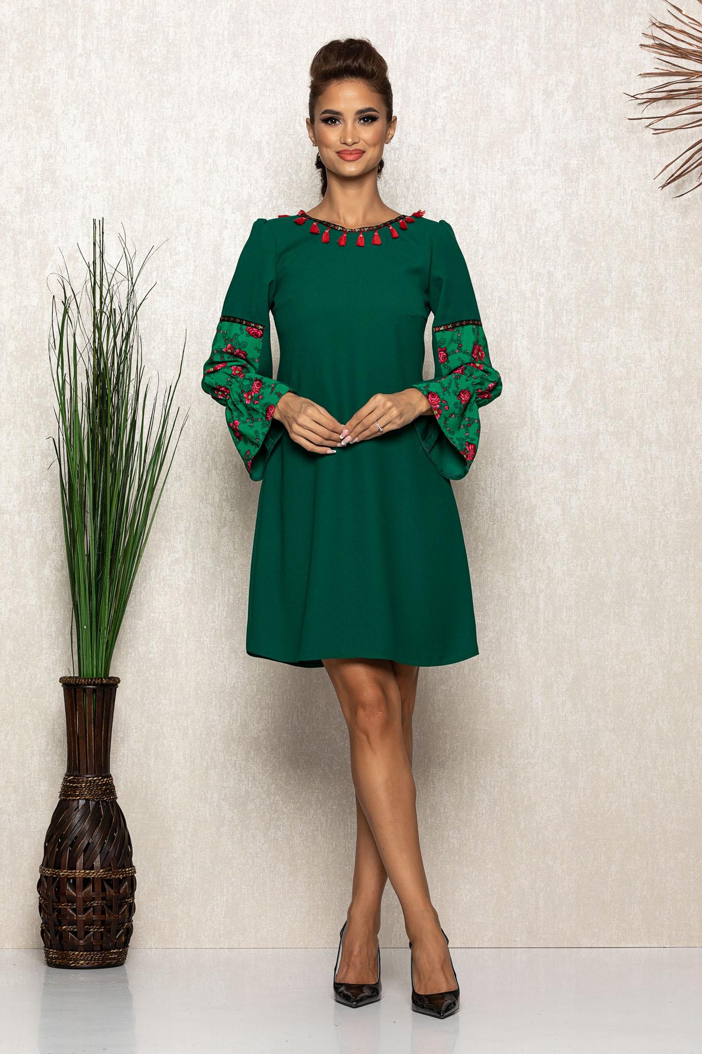 Rochie Moze Cecilia Verde Marimi Mari S (36)   M (38)   L (40)   XL (42)   XXL (44)   3XL (46)