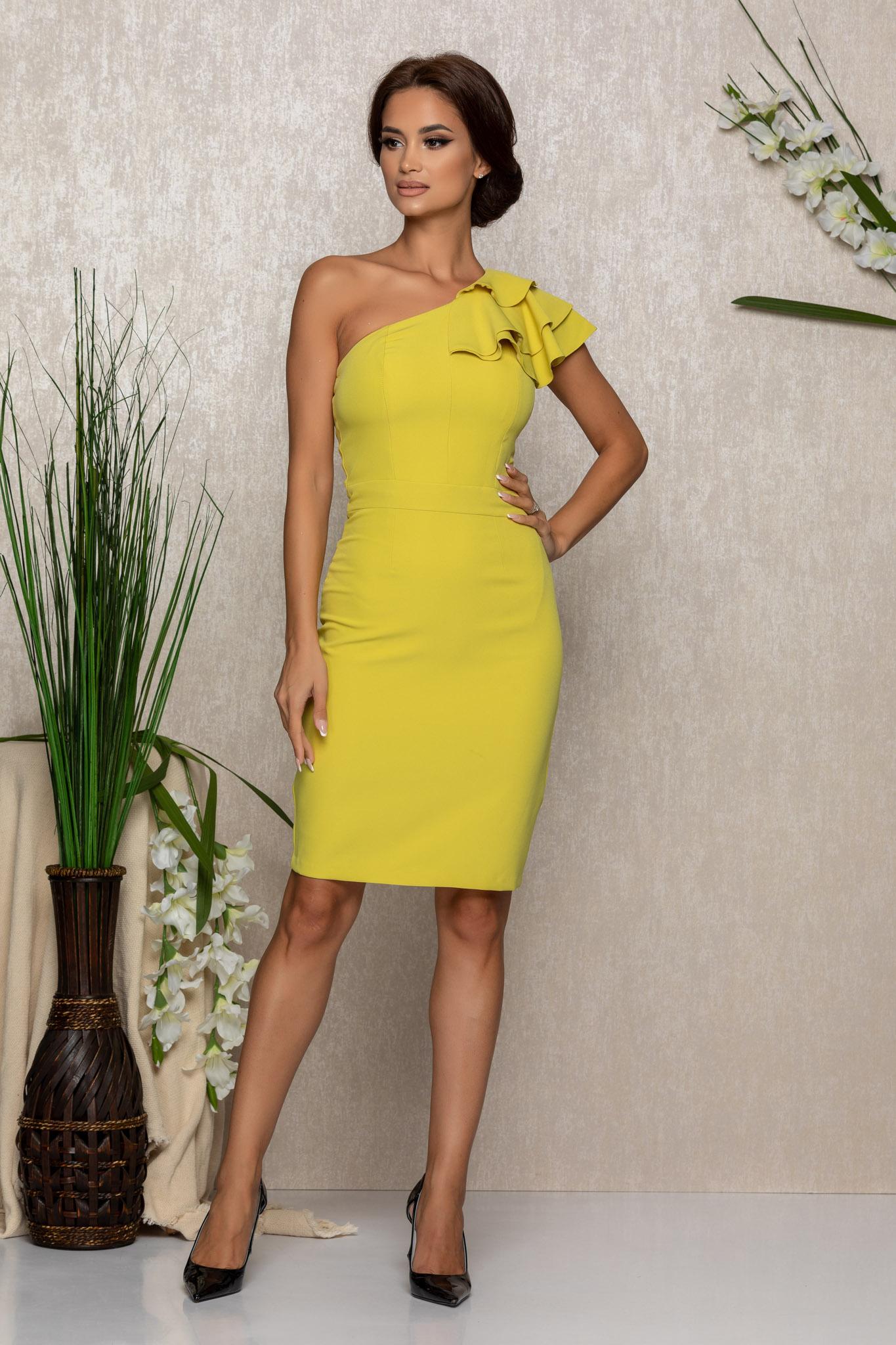 Rochie Moze Claudia Lime Marimi Mari S (36)   M (38)   L (40)   XL (42)   XXL (44)   3XL (46)
