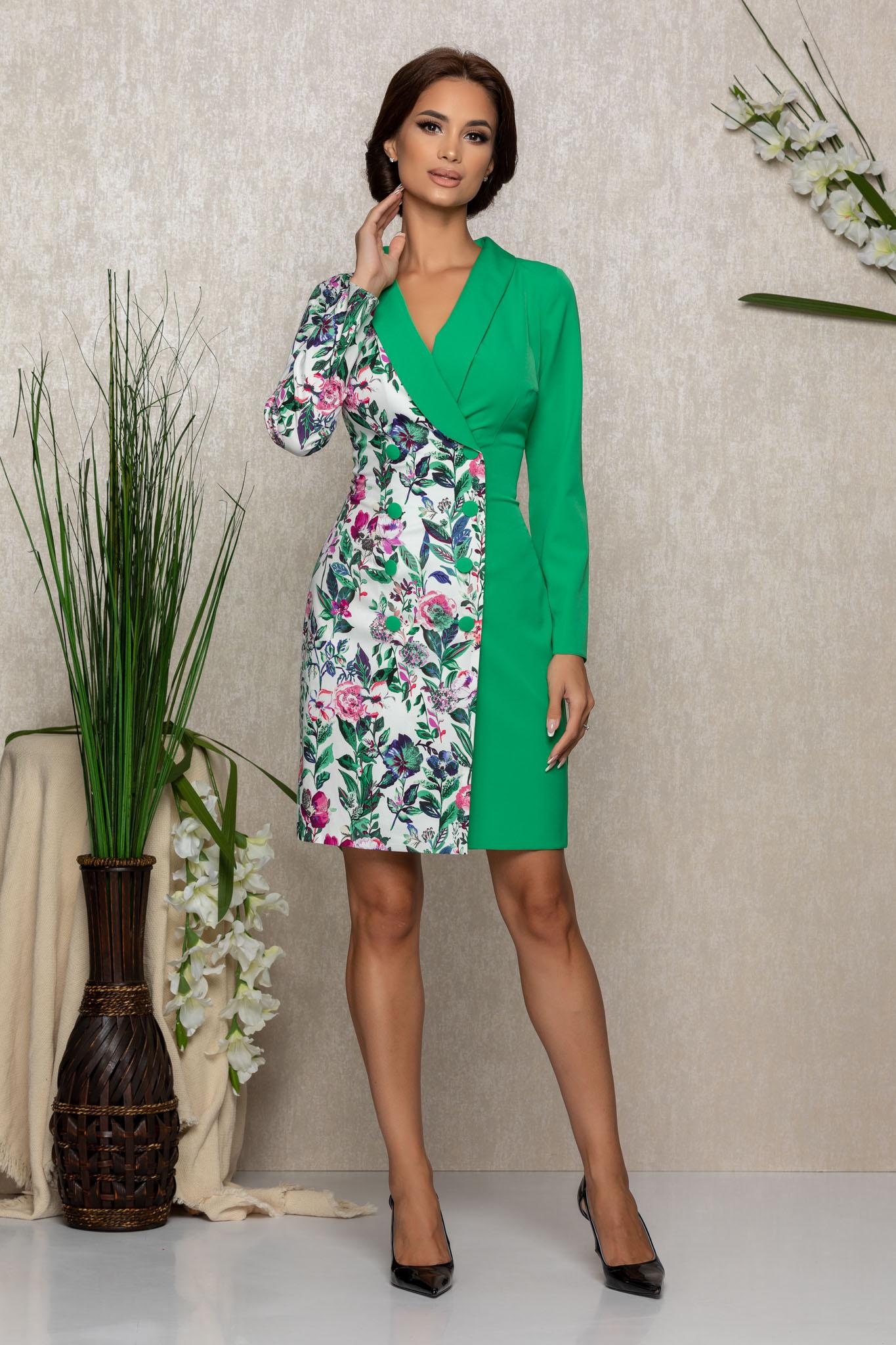 Rochie Moze Minodora Verde Marimi Mari S (36) | M (38) | L (40) | XL (42) | XXL (44) | 3XL (46)