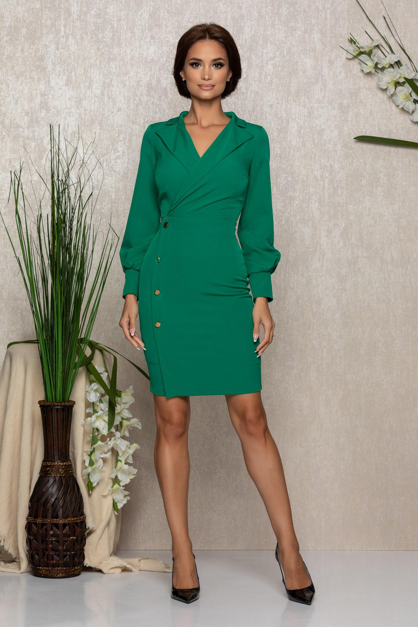 Rochie Moze Rafaela Verde Marimi Mari S (36)   M (38)   L (40)   XL (42)   XXL (44)   3XL (46)
