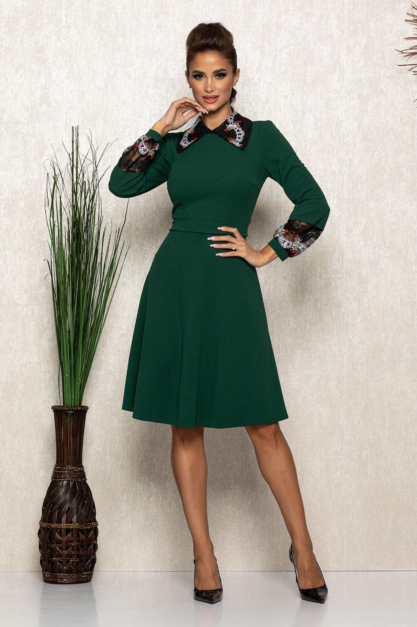 Rochie Moze Sorina Verde Marimi Mari S (36)   M (38)   L (40)   XL (42)   XXL (44)   3XL (46)