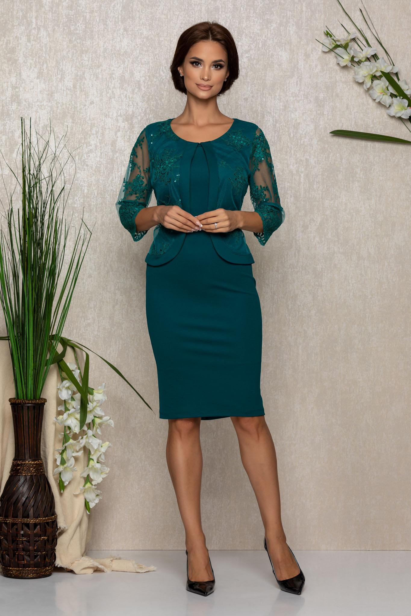 Rochie Verity Verde Marimi Mari XXL (44) | 3XL (46) | 4XL (48) | 5XL (50)